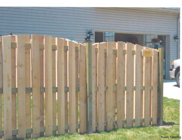 6ft cedar arch shadowbox with custom tops