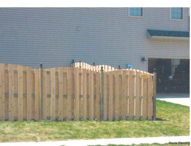 6ft cedar shadowbox arch
